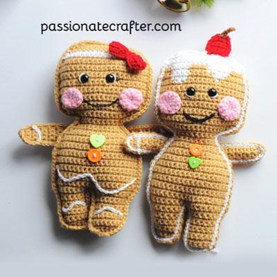 Adorable gingerbread man ragdoll (free crochet pattern)