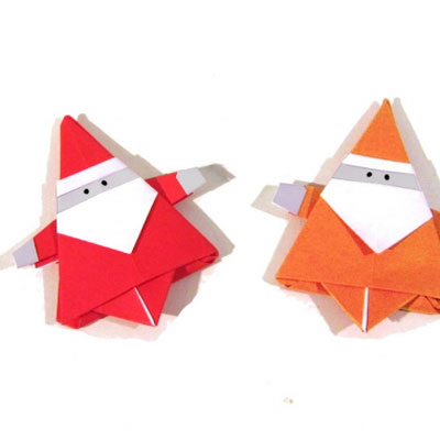 Origami Santa Claus - Christmas craft for kids ( paper folding )