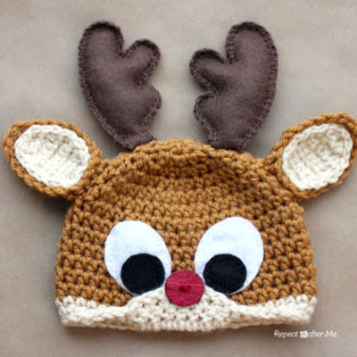 Crochet Rudolph the reindeer