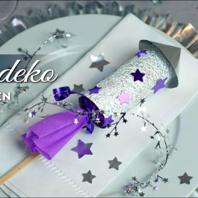 DIY Paper rocket New Year's Eve decoration