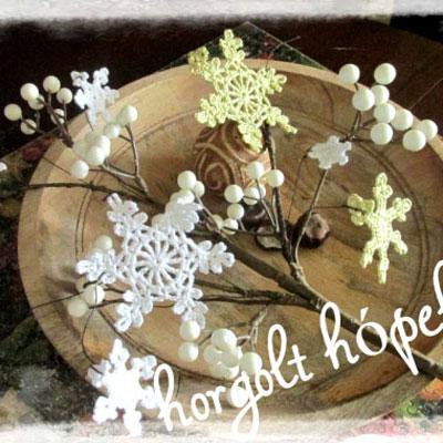 Crochet snowflakes (free Hungarian crochet pattern)