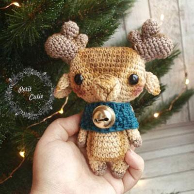 Little amigurumi elk (free crochet pattern)