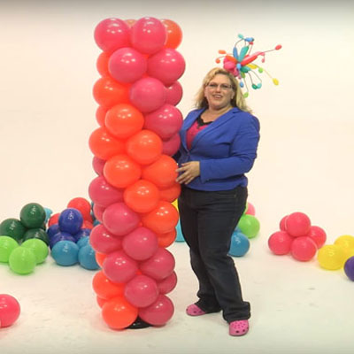 How to make a balloon tower - DIY party decoration