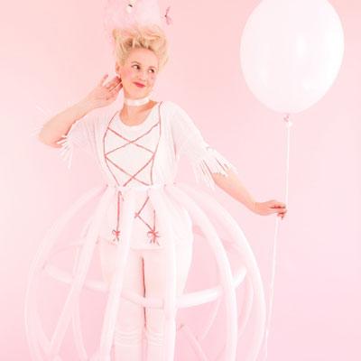 DIY Marie Antoinette costume ( dress -up costume for girls )