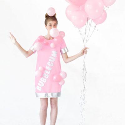 Quick and easy bubblegum costume (costume making tutorial)