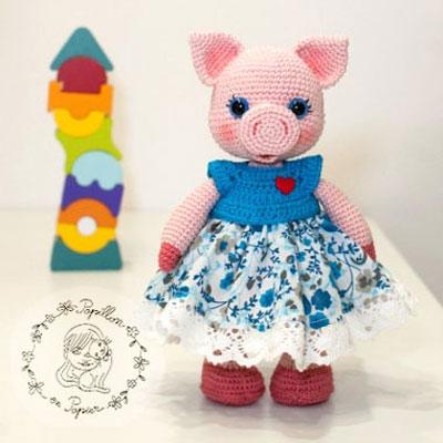 Miss Piggy - amigurumi pig (free crochet pattern)