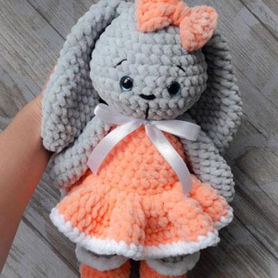 Crochet Beige Bunny in dress Crochet Bunny Amigurumi Bunny | Etsy | 400x400