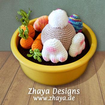 Amigurumi bunny butt - Easter decor (free crochet pattern)