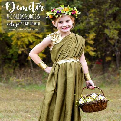 DIY Greek goddess costume (Demeter costume)