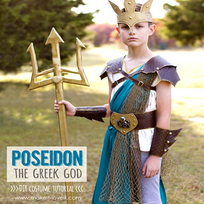 DIY Poseidon costume (Greek god costume)