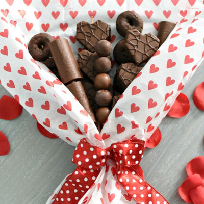 DIY Chocolate bouquet - Valentine's day gift idea