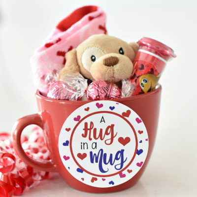 DIY Hug in a mug - fun Valentine's gift idea