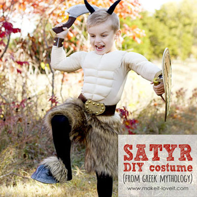DIY Satyr costume (faun costume) - mythology