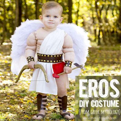 DIY Eros (Cupid) costume - mythological costume