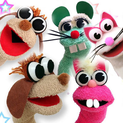 DIY Sock hand puppets - puppet making tutorial