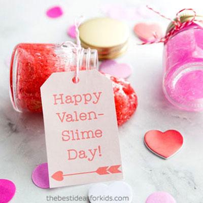 DIY Valenslime - easy Valentine slime recipe