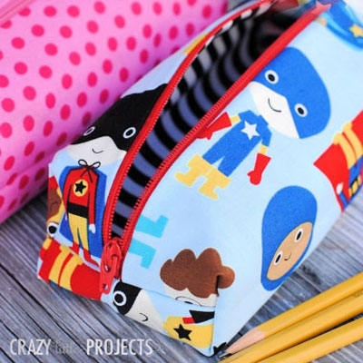 Quick fabric pencil case pattern & sewing tutorial