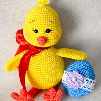 Amigurumi chick and Easter egg (free crochet patterns)