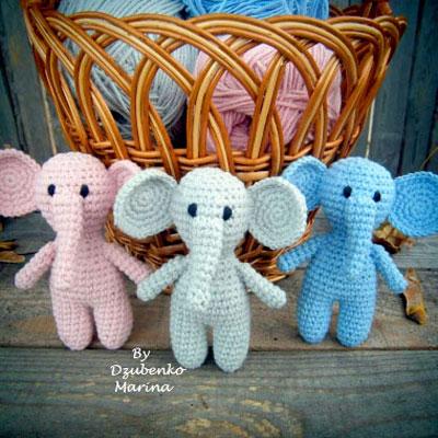 Crochet elephant pattern easy amigurumi pattern | Etsy | 400x400