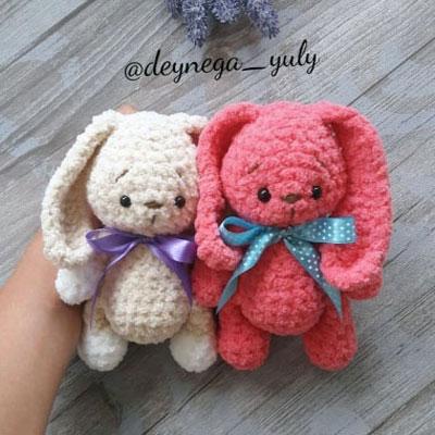Little soft amigurumi bunny (free crochet pattern)