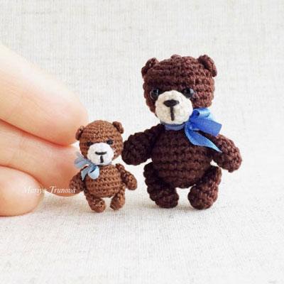 Tiny amigurumi bear (minigurumi) - free crochet pattern