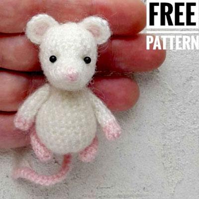 Little amigurumi mouse (free crochet pattern)