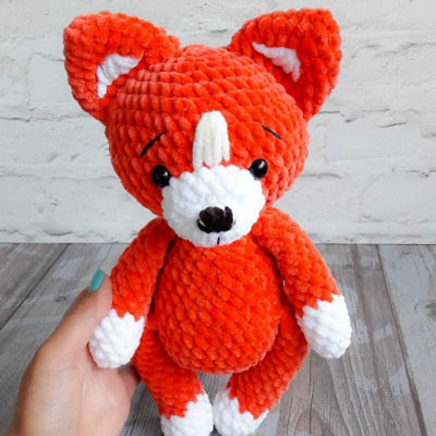 Fredric the Fox Free Amigurumi Pattern | Jess Huff | 400x400