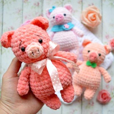 Little soft amigurumi pig (free crochet pattern)