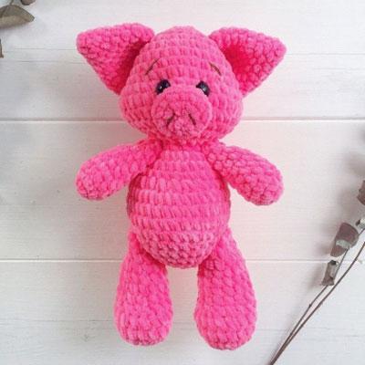 Soft amigurumi pig (Free crochet pattern)