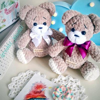 Amigurumi Teddy Bear Crochet Pattern HavvaDesigns Crochet | Etsy | 400x400