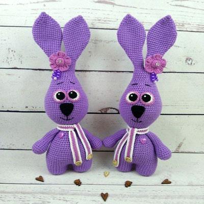 Little purple amigurumi bunny (free crochet pattern)