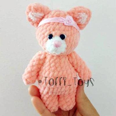 Little soft amigurumi cat (free crochet pattern)
