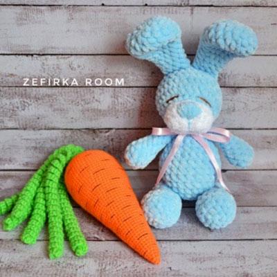 Crochet bunny - stuffed animal - blue bunny - easter bunny ... | 400x400