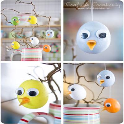 DIY Styrofoam egg Easter chick - fun Easter craft for kids