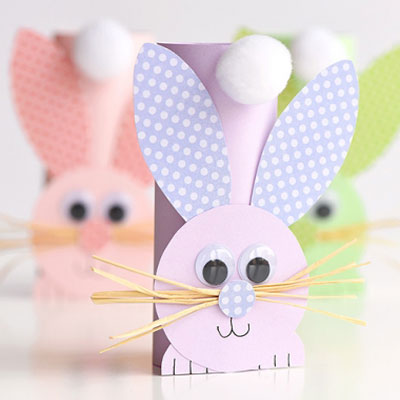 Easy DIY toilet paper roll bunny - fun Easter craft for kids