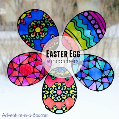 DIY Stained glass Easter eggs ( Easter egg suncatcher craft for kids )
