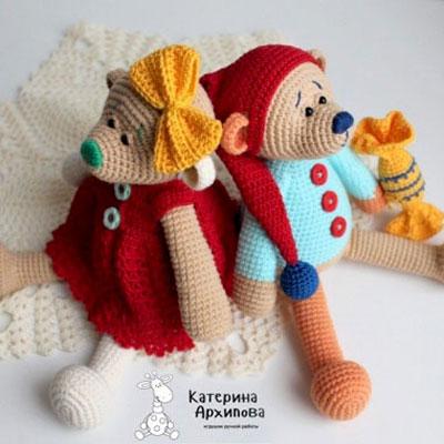 Adorable amigurumi bear in dress (free crochet pattern & video tutorial)