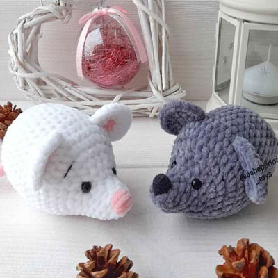 Soft little amigurumi mouse (free crochet pattern)