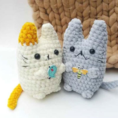Amigurumi Cat Crochet Pattern Easy Video Tutorial | 400x400
