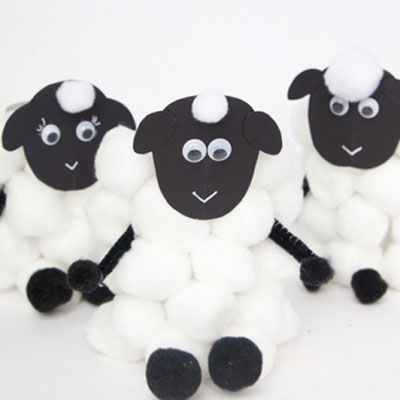 DIY toilet paper roll sheep - fun Easter craft for kids