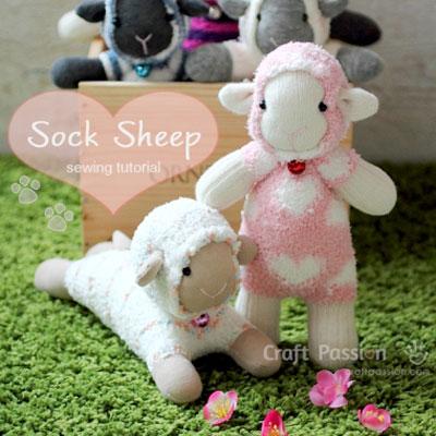 DIY Sock sheep - free pattern & sewing tutorial