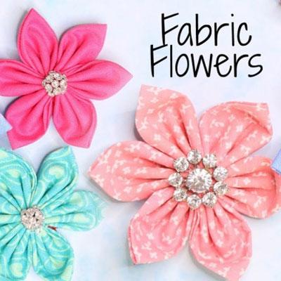 Quick & easy DIY fabric flowers ( video tutorial )