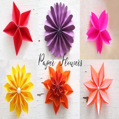 6 Easy DIY paper flower  - origami (paper folding) for beginners