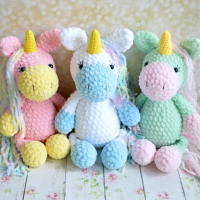 The Most Adorable Unicorn Crochet Patterns - Once Upon a Cheerio | 400x400