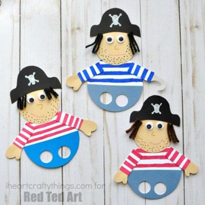 Pirate finger puppet - fun summer craft for kids