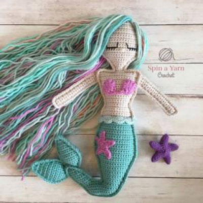 Crochet mermaid doll - ragdoll mermaid (free crochet pattern)