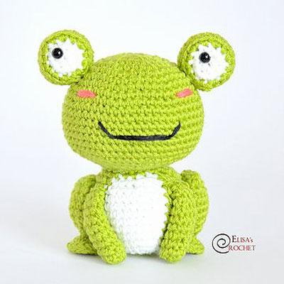 Sweet smiling amigurumi frog (free amigurumi pattern)