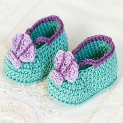 Super adorable mermaid baby booties ( free crochet pattern )