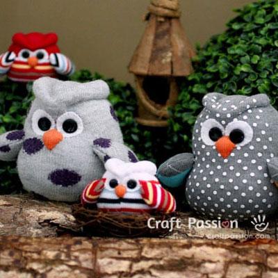 Cute sock owls