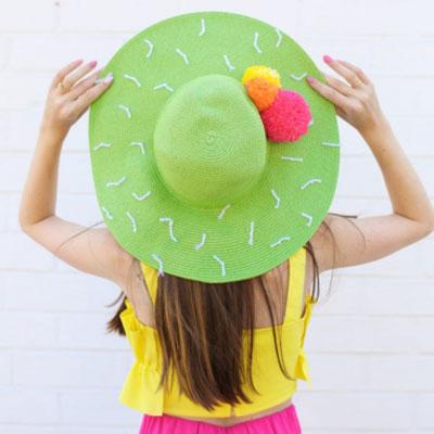 DIY Cactus summer hat